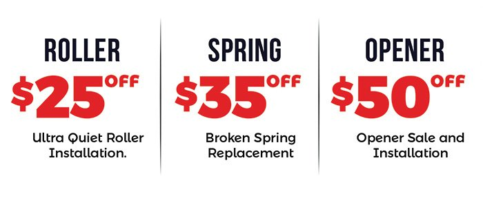 garage door services and repair discounts
